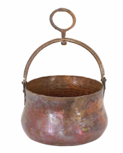 Moroccan Copper Hammam Bucket Vintage Large Antique Hammered Height 14 cm Diameter 20 cm CHB5